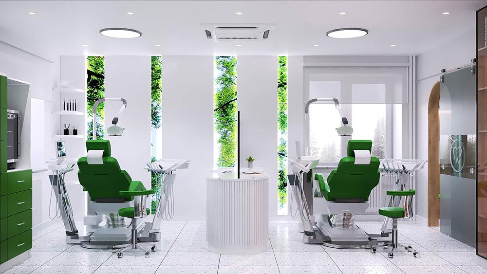 Шүдний эмнэлэгийн интерьер дизайны шийдэл